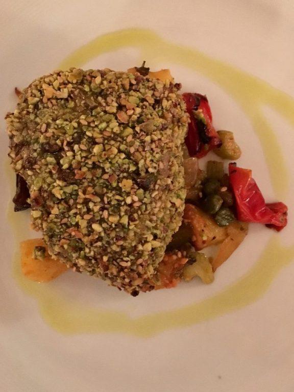 Tuna in pistachio crust