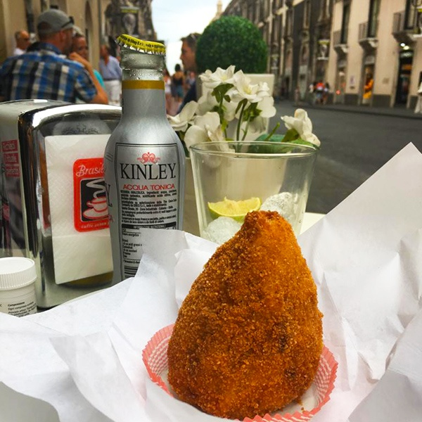 Arancino (or Arancina) at the bar