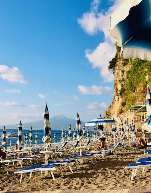 Private Beach facing Vesuvio