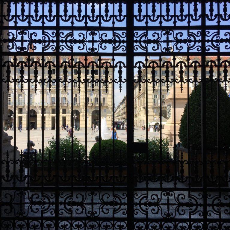 The Castle square from Palazzo Madama.  Torino