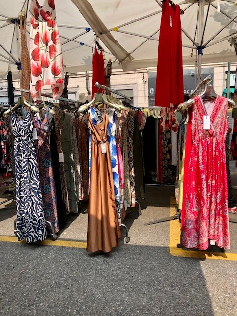 Summer dresses and accessories